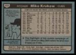 1980 Topps #431  Mike Krukow  Back Thumbnail