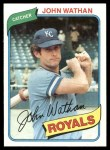 1980 Topps #547  John Wathan  Front Thumbnail