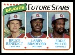 1980 Topps #675   -  Bruce Benedict / Larry Bradford / Eddie Miller  Braves Rookies Front Thumbnail