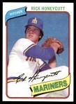 1980 Topps #307  Rick Honeycutt  Front Thumbnail