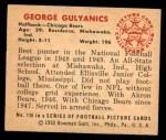 1950 Bowman #136  George Gulyanics  Back Thumbnail
