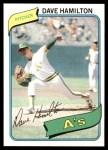 1980 Topps #86  Dave Hamilton  Front Thumbnail