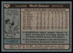 1980 Topps #102  Rich Dauer  Back Thumbnail