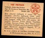 1950 Bowman #11  Ted Fritsch  Back Thumbnail