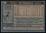 1980 Topps #195  John Montefusco  Back Thumbnail