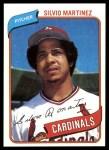 1980 Topps #496  Silvio Martinez  Front Thumbnail