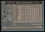1980 Topps #654  Bruce Boisclair    Back Thumbnail