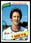 1980 Topps #654  Bruce Boisclair    Front Thumbnail