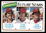 1980 Topps #684   -  Tom Herr / George Frazier / Dan O'Brien  Cardinals Rookies Front Thumbnail