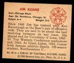 1950 Bowman #99  Jim Keane  Back Thumbnail