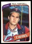 1980 Topps #721  Paul Hartzell  Front Thumbnail