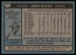 1980 Topps #12  John Curtis    Back Thumbnail