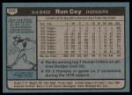 1980 Topps #510  Ron Cey  Back Thumbnail