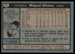 1980 Topps #541  Miguel Dilone  Back Thumbnail