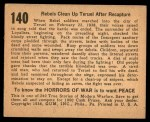 1938 Gum Inc. Horrors of War #140   Rebels Clean Up Teruel After Recapture Back Thumbnail