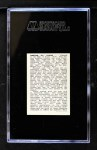 1950 Callahan Hall of Fame  Cy Young  Back Thumbnail