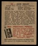 1948 Bowman #33  Jack Smiley  Back Thumbnail