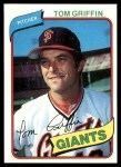 1980 Topps #649  Tom Griffin  Front Thumbnail