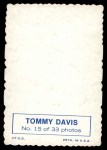 1969 Topps Deckle Edge #15  Tommy Davis    Back Thumbnail