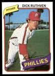 1980 Topps #136  Dick Ruthven  Front Thumbnail
