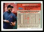 1994 Topps #100  Kirby Puckett  Back Thumbnail