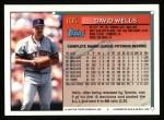 1994 Topps #105  David Wells  Back Thumbnail