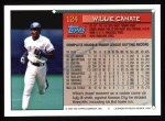 1994 Topps #124  Willie Canate  Back Thumbnail