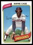 1980 Topps #208  Wayne Cage  Front Thumbnail