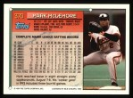 1994 Topps #379  Mark McLemore   Back Thumbnail