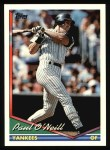 1994 Topps #546  Paul O'Neill  Front Thumbnail