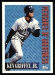 1994 Topps #606   -  Ken Griffey Jr. Measures of Greatness Front Thumbnail
