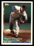 1994 Topps #720  Roger Clemens  Front Thumbnail