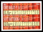 1994 Topps #764  Cory Bailey /  Scott Hatteberg  Back Thumbnail