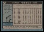 1980 Topps #281  Paul Blair  Back Thumbnail