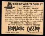 1950 Topps Hopalong Cassidy #39   Watch out Hoppy Back Thumbnail