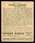 1933 Goudey Sport Kings #43  Primo Carnera   Back Thumbnail