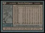1980 Topps #468  Aurelio Rodriguez  Back Thumbnail
