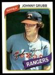 1980 Topps #313  Johnny Grubb  Front Thumbnail