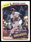 1980 Topps #181  Moose Haas  Front Thumbnail