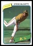 1980 Topps #231  Steve McCatty  Front Thumbnail