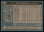 1980 Topps #264  Bill Robinson  Back Thumbnail