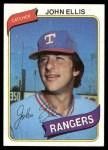 1980 Topps #283  John Ellis  Front Thumbnail