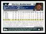 2004 Topps #8  Marlon Anderson  Back Thumbnail