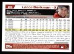 2004 Topps #25  Lance Berkman  Back Thumbnail