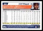 2004 Topps #66  Cliff Floyd  Back Thumbnail