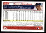 2004 Topps #106  Ramiro Mendoza  Back Thumbnail