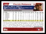 2004 Topps #117  Placido Polanco  Back Thumbnail