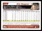 2004 Topps #145  Billy Wagner  Back Thumbnail