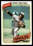 1980 Topps #10  Dennis Martinez  Front Thumbnail