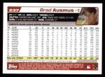 2004 Topps #237  Brad Ausmus  Back Thumbnail